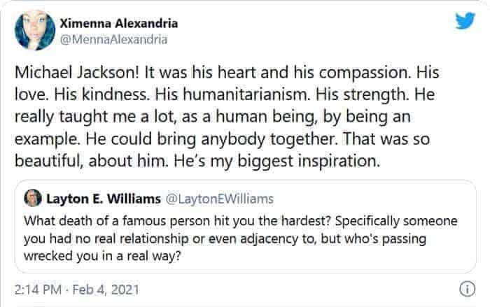 Fan's tribute to Michael Jackson.