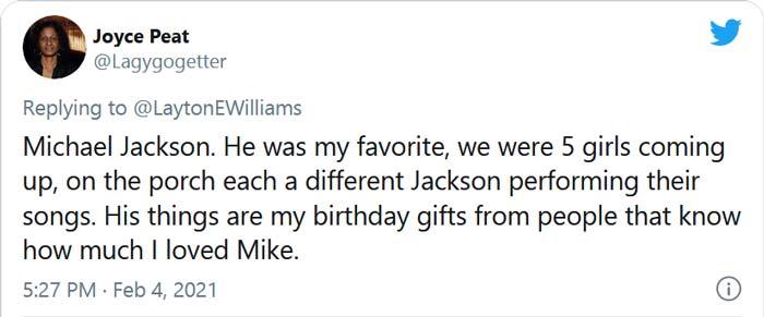 Fan's tribute to Michael Jackson
